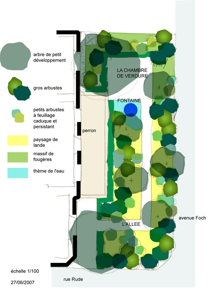 Atelier Alice Tricon / Jardins / Paysages - Ambassade Irlande - Ambassade d'Irlande (75016) - Schéma d'aménagement