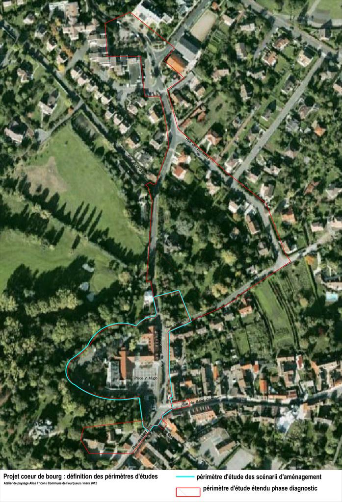 Atelier Alice Tricon / Jardins / Paysages - Place Victor Hugo<br>Fourqueux - Fourqueux (78) - Fourqueux place Victor Hugo Orientations urbaines Alice Tricon