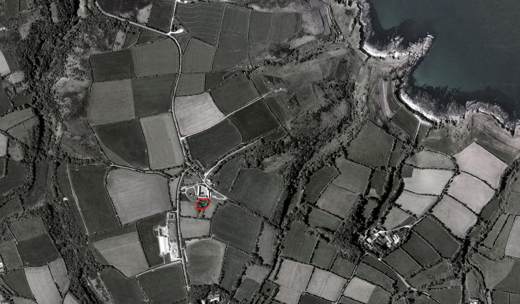 Atelier Alice Tricon / Jardins / Paysages - La Hague - Omonville-la-Rogue, presqu'île du Cotentin (50) - Vue aerienne