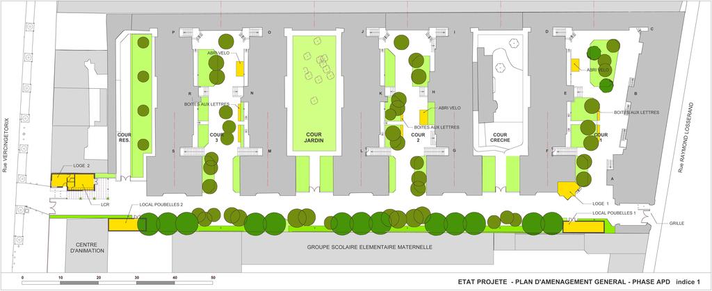 Atelier Alice Tricon / Jardins / Paysages - Losserand - Paris (75014)  - Plan de principe du projet de réaménagement