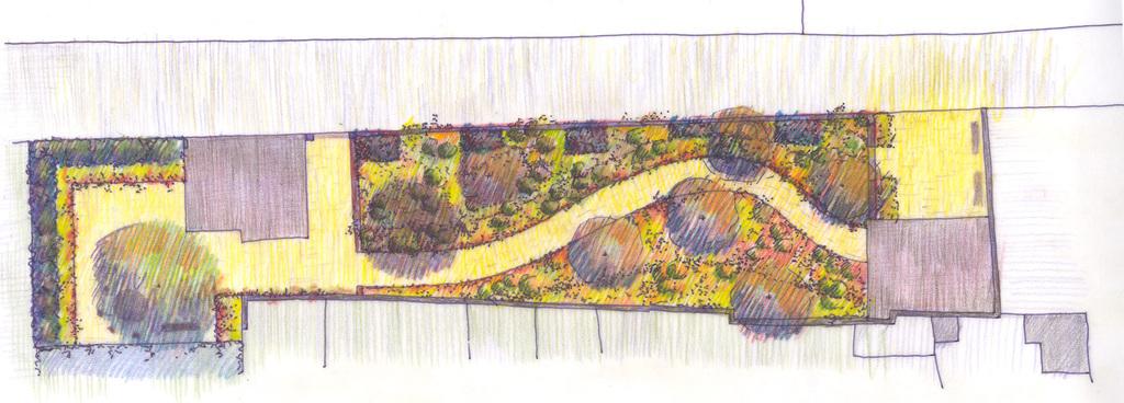 Atelier Alice Tricon / Jardins / Paysages - Renoir - Essoyes (10) - Plan Esquisse