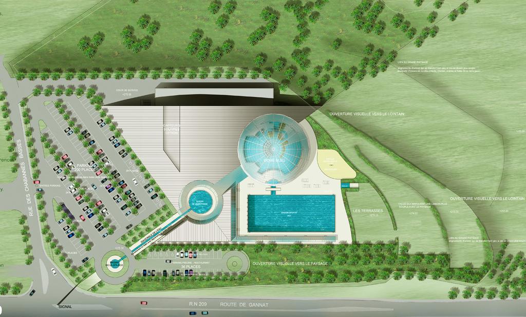 Atelier Alice Tricon / Jardins / Paysages - Vichy - Bellerive-sur-Allier (03) - Plan concours