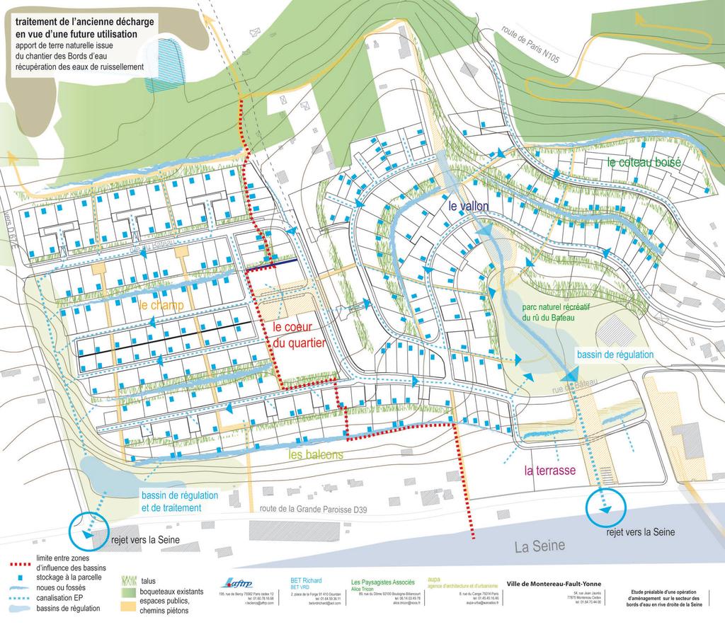 Atelier Alice Tricon / Jardins / Paysages - Montereau - Montereau Fault Yonne (77) - Plan de gestion de l'eau
