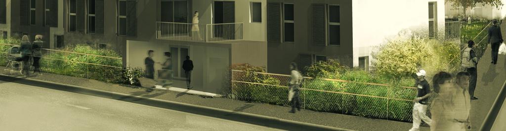 Atelier Alice Tricon / Jardins / Paysages - Buchelay <br> Opération de logements - Buchelay, Mantes-Université (78) - perspective PC