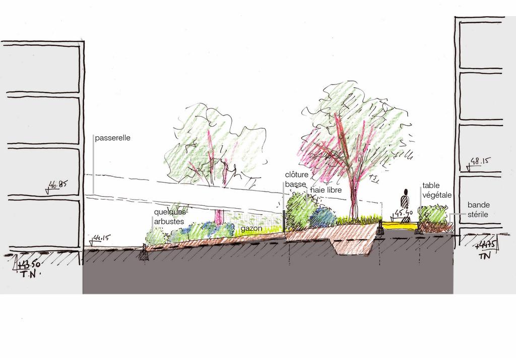 Atelier Alice Tricon / Jardins / Paysages - Buchelay <br> Opération de logements - Buchelay, Mantes-Université (78) - profil projet