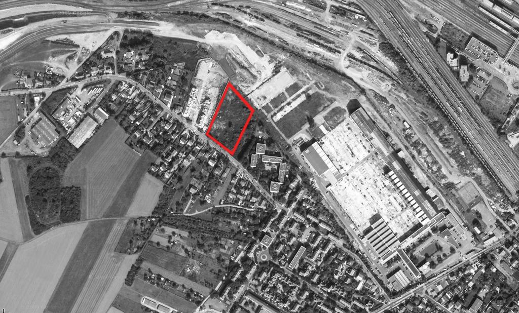 Atelier Alice Tricon / Jardins / Paysages - Buchelay <br> Opération de logements - Buchelay, Mantes-Université (78) - Vue aerienne